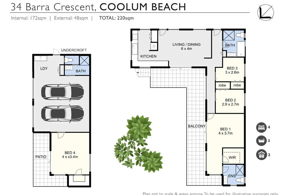 Floorplan of Homely house listing, 34 Barra Crescent, Coolum Beach QLD 4573