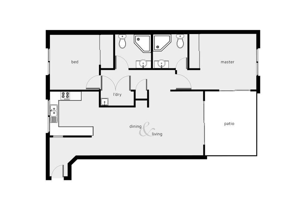 Floorplan of Homely unit listing, 221/29-33 Springfield Crescent, Manoora QLD 4870