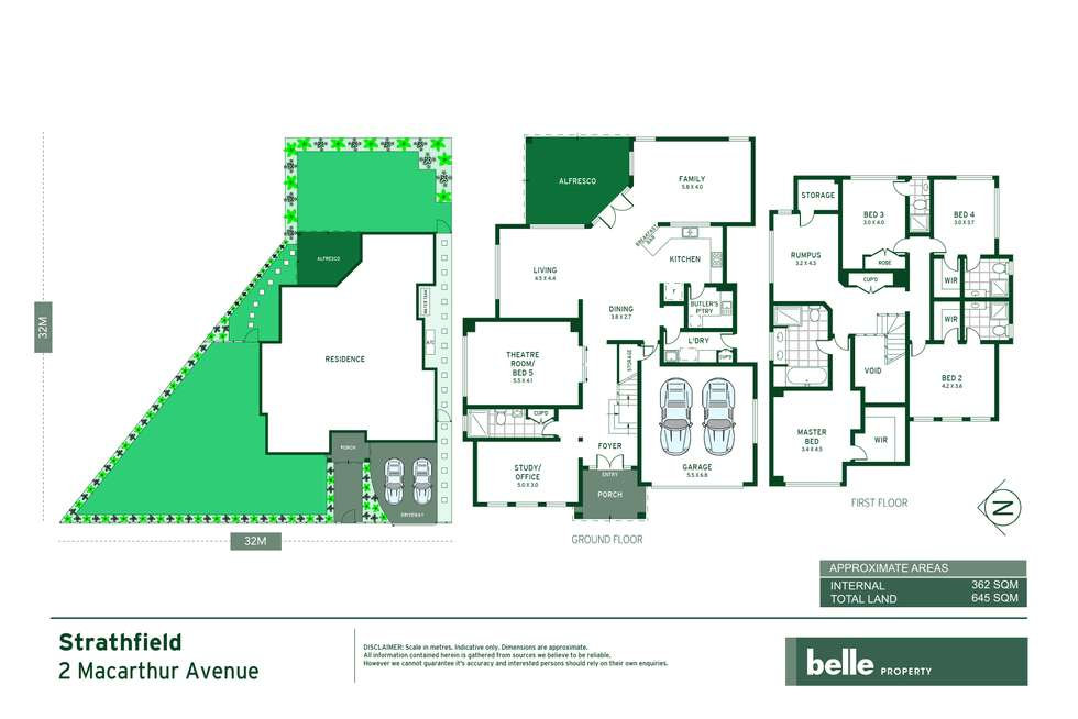 Floorplan of Homely house listing, 2 Macarthur Avenue, Strathfield NSW 2135
