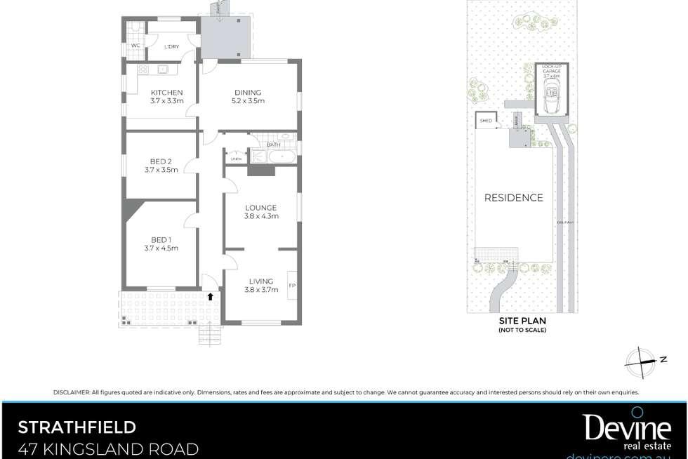 Floorplan of Homely house listing, 47 Kingsland Road, Strathfield NSW 2135