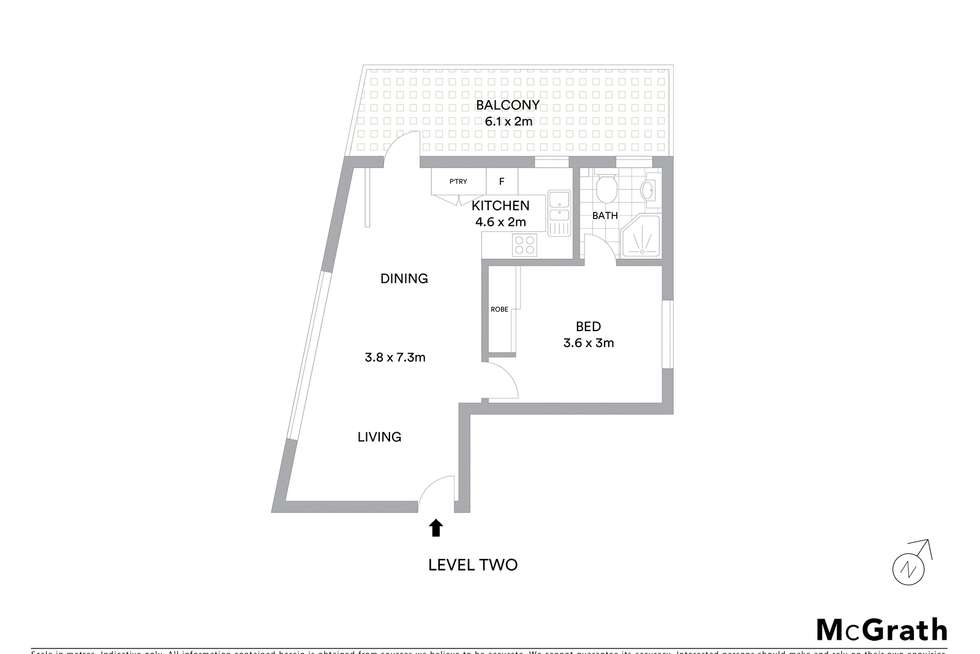 Floorplan of Homely apartment listing, 4/9 Florence Avenue, Eastlakes NSW 2018