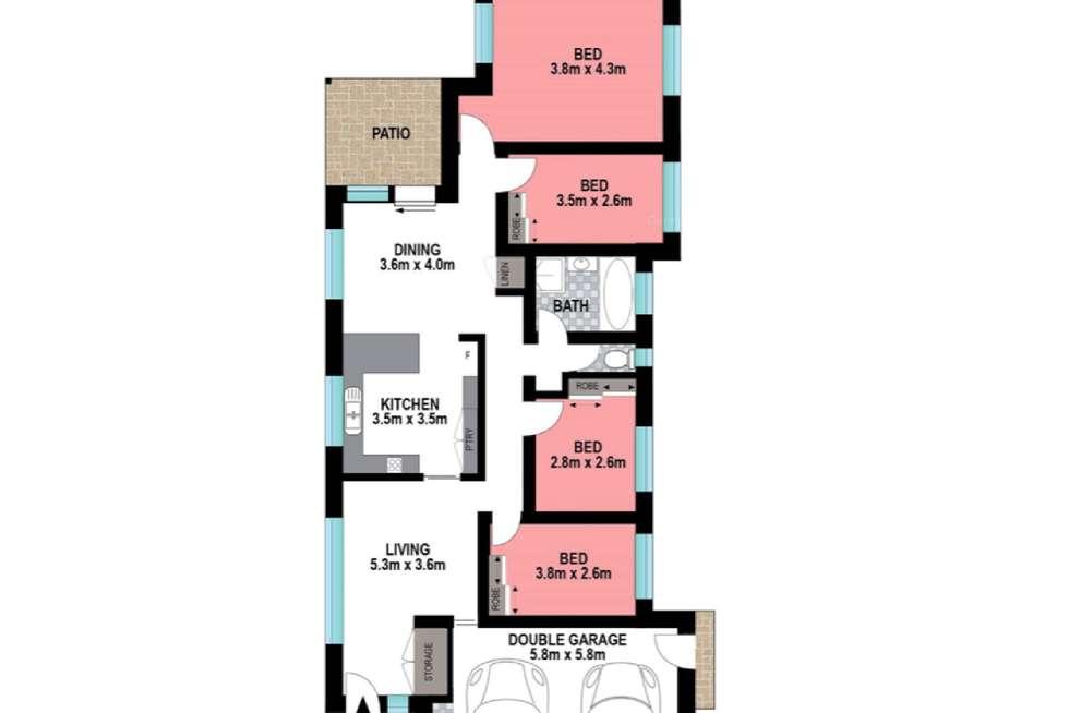 Floorplan of Homely house listing, 7 Sawrey Street, Rothwell QLD 4022