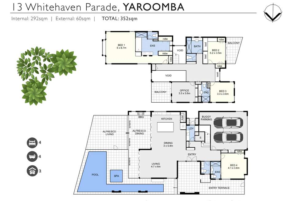 Floorplan of Homely house listing, 13 Whitehaven Parade, Yaroomba QLD 4573