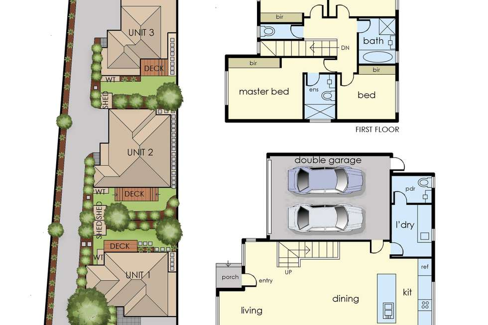 Floorplan of Homely townhouse listing, 2/22 Mines Road, Ringwood East VIC 3135