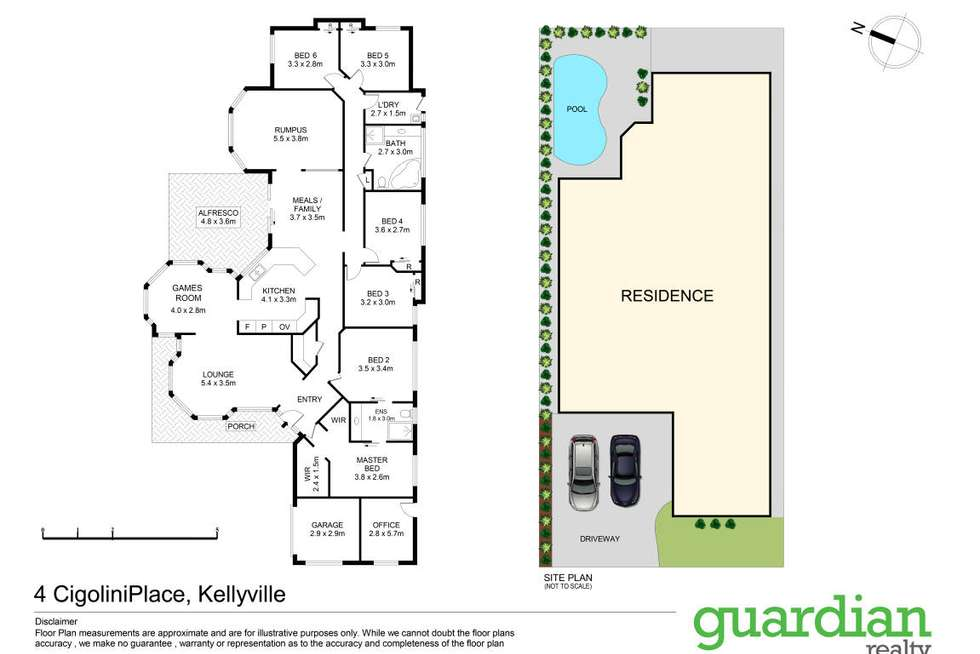Floorplan of Homely house listing, 4 Cigolini Place, Kellyville NSW 2155