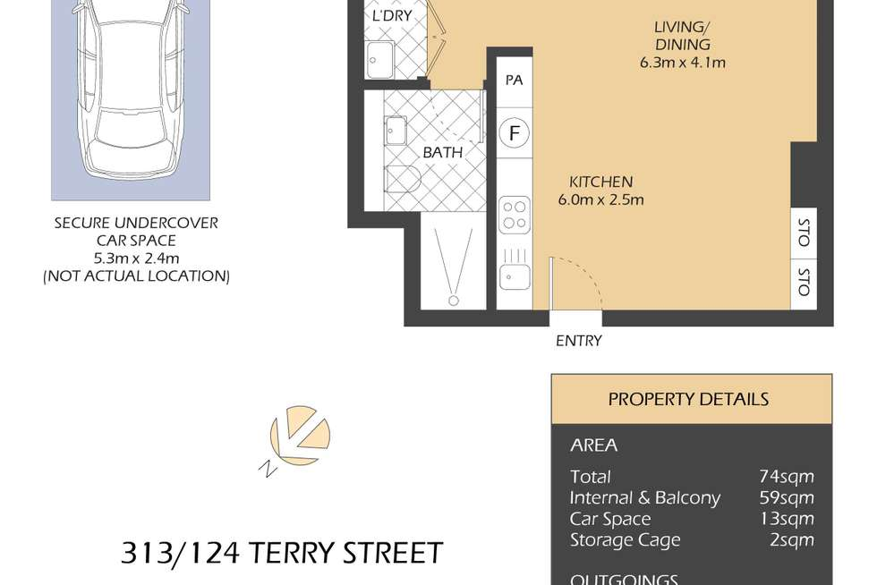Floorplan of Homely apartment listing, 313/124 Terry Street, Rozelle NSW 2039