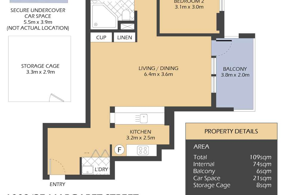 Floorplan of Homely apartment listing, 1009/27 Margaret Street, Rozelle NSW 2039