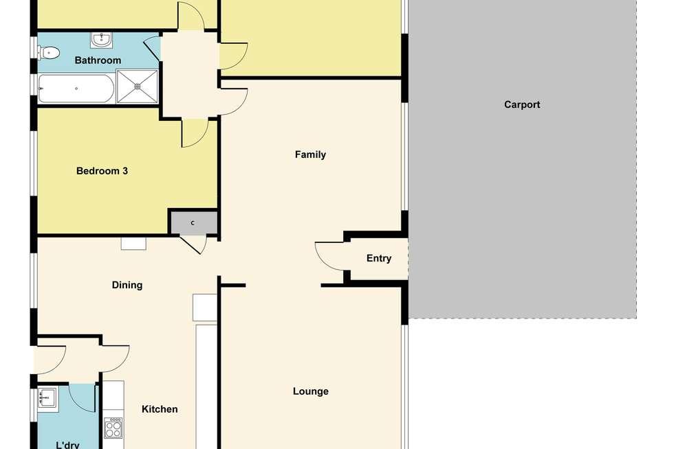 Floorplan of Homely house listing, 18 Spencer Street, Sebastopol VIC 3356