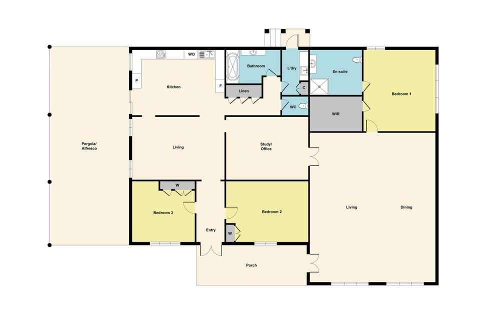 Floorplan of Homely house listing, 404 Haines Street, Nerrina VIC 3350