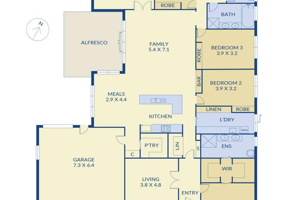 Floorplan of Homely house listing, 8 Waterloo Rise, Sunbury VIC 3429