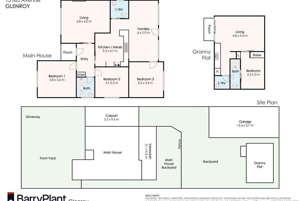 Floorplan of Homely house listing, 15 Isla Avenue, Glenroy VIC 3046