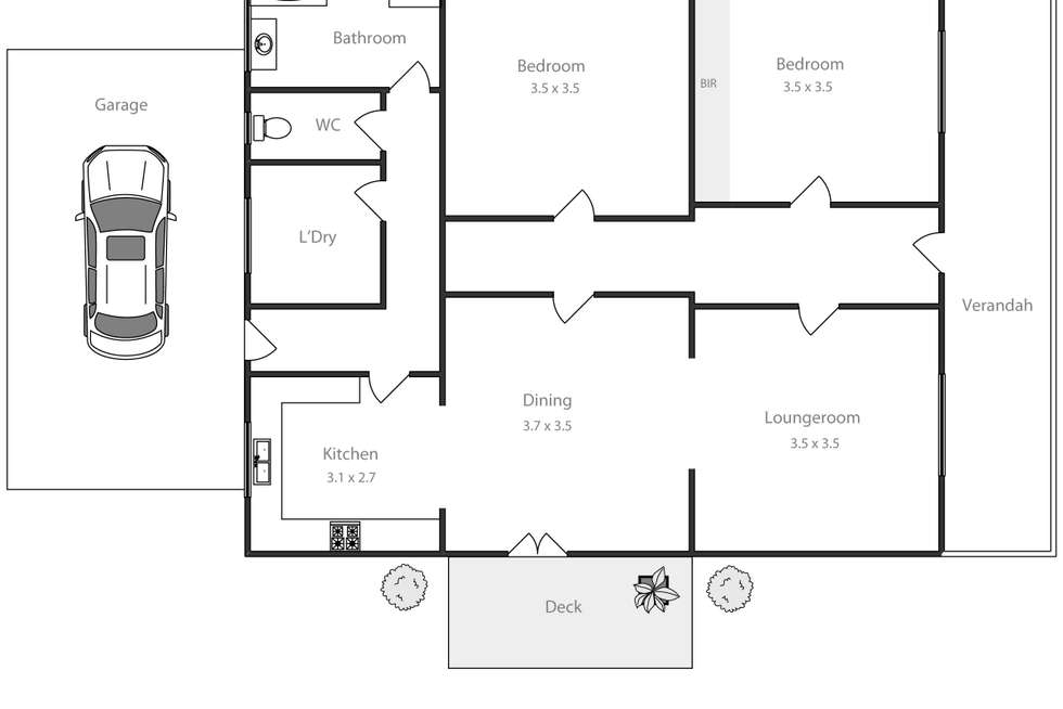 Floorplan of Homely house listing, 803 Laurie Street, Mount Pleasant VIC 3350