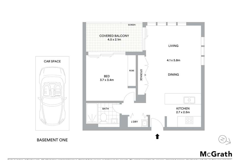 Floorplan of Homely unit listing, 505/10 Grassland Street, Rouse Hill NSW 2155