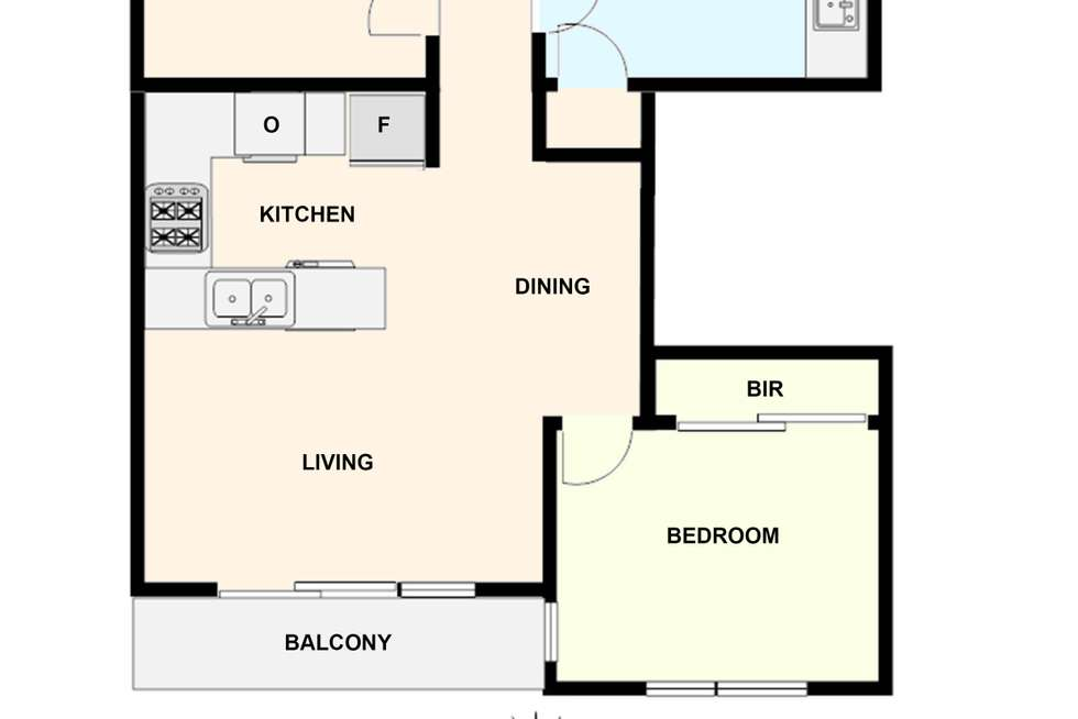 Floorplan of Homely apartment listing, 22/15 Liardet Street, Port Melbourne VIC 3207