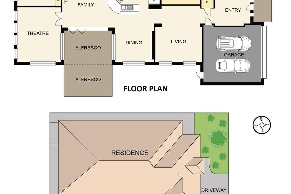Floorplan of Homely house listing, 12 Baynton Crescent, Lynbrook VIC 3975