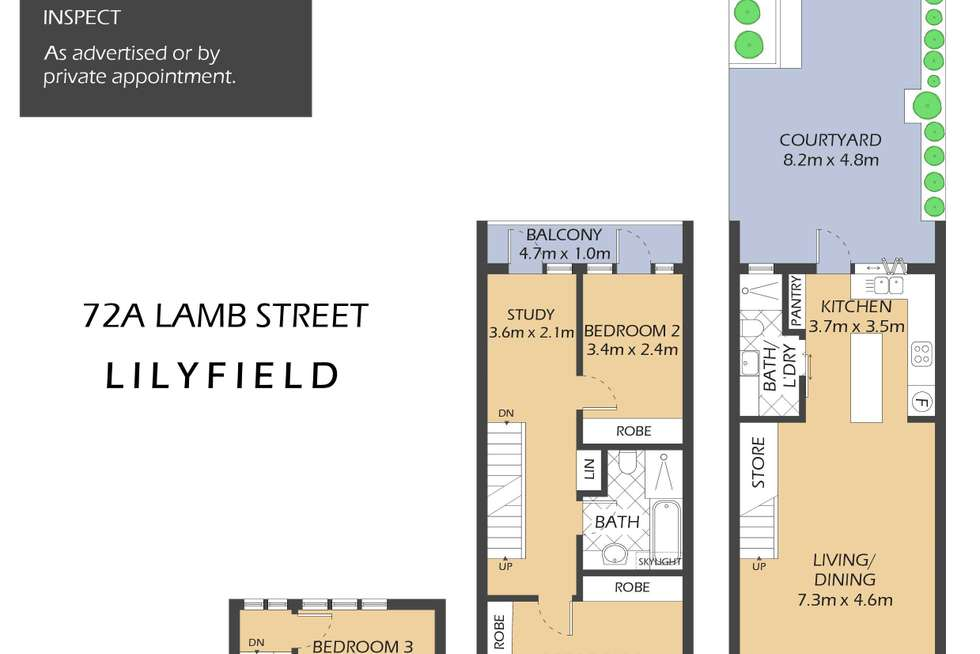 Floorplan of Homely house listing, 72A Lamb Street, Lilyfield NSW 2040