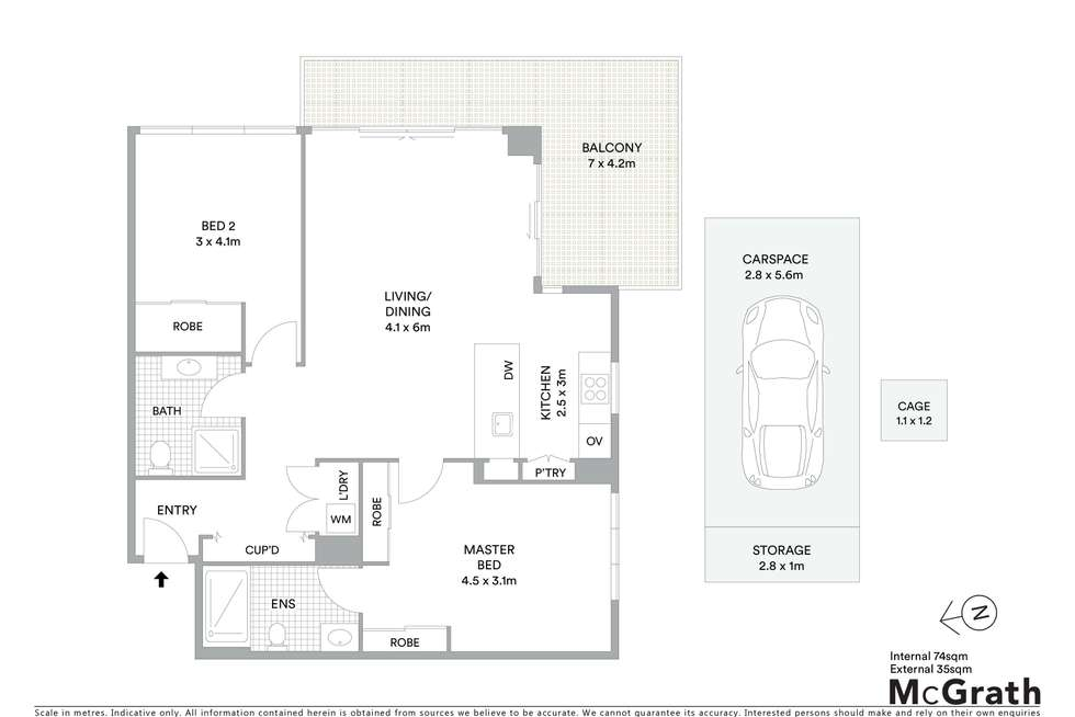 Floorplan of Homely apartment listing, Level 4/403/8 St George Street, Gosford NSW 2250