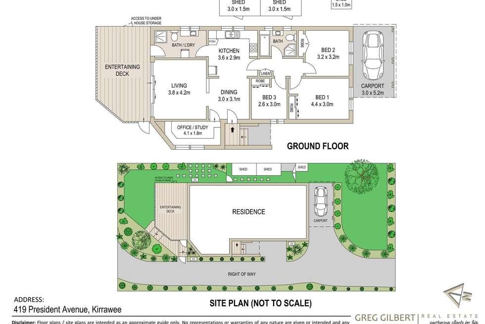 Floorplan of Homely house listing, 419 President Avenue, Kirrawee NSW 2232