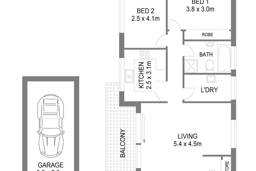 Floorplan of Homely apartment listing, 15/42 Premier Street, Kogarah NSW 2217