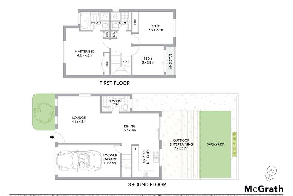 Floorplan of Homely townhouse listing, 6/53 Waterford Street, Kellyville Ridge NSW 2155