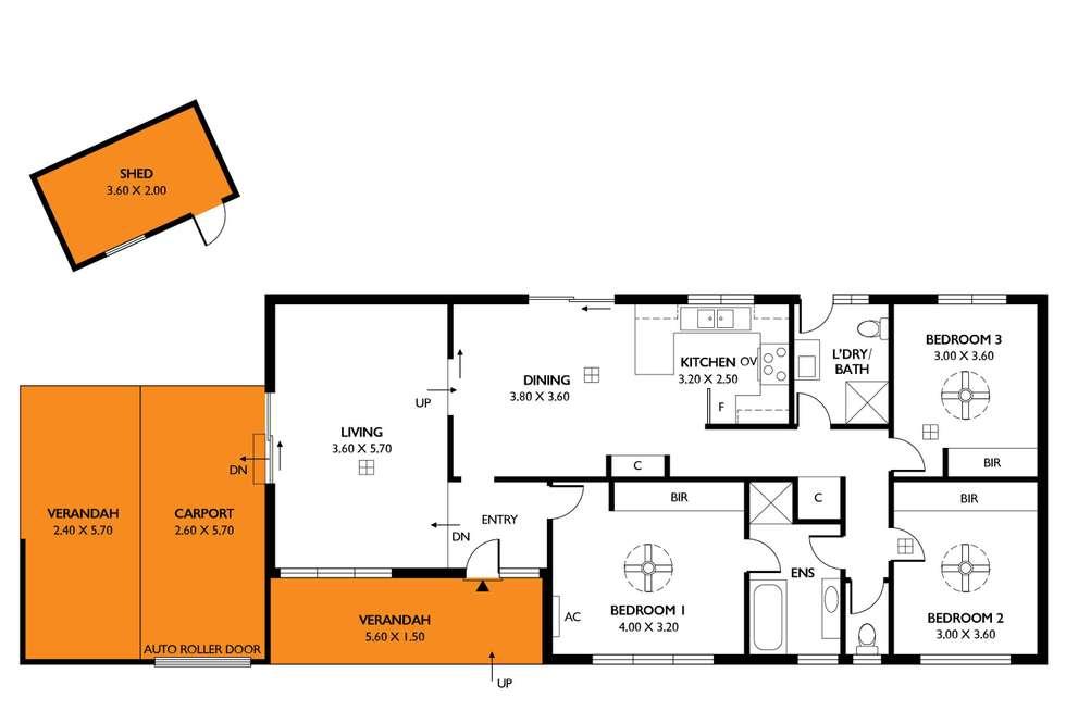Floorplan of Homely house listing, 75 Cashel Street, Pasadena SA 5042