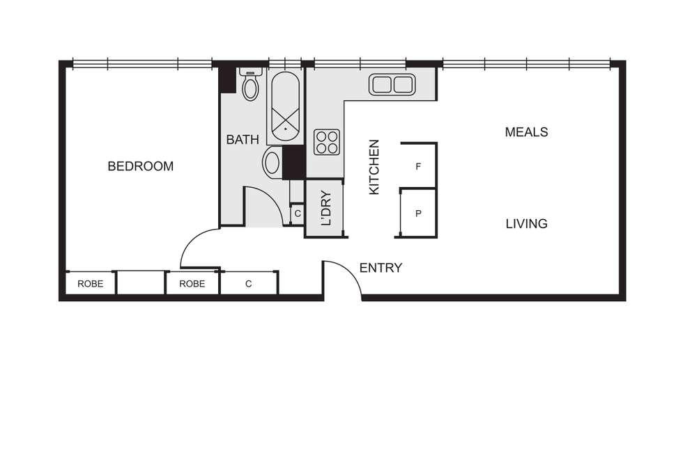 Floorplan of Homely apartment listing, 8/130 Glen Huntly Road, Elwood VIC 3184