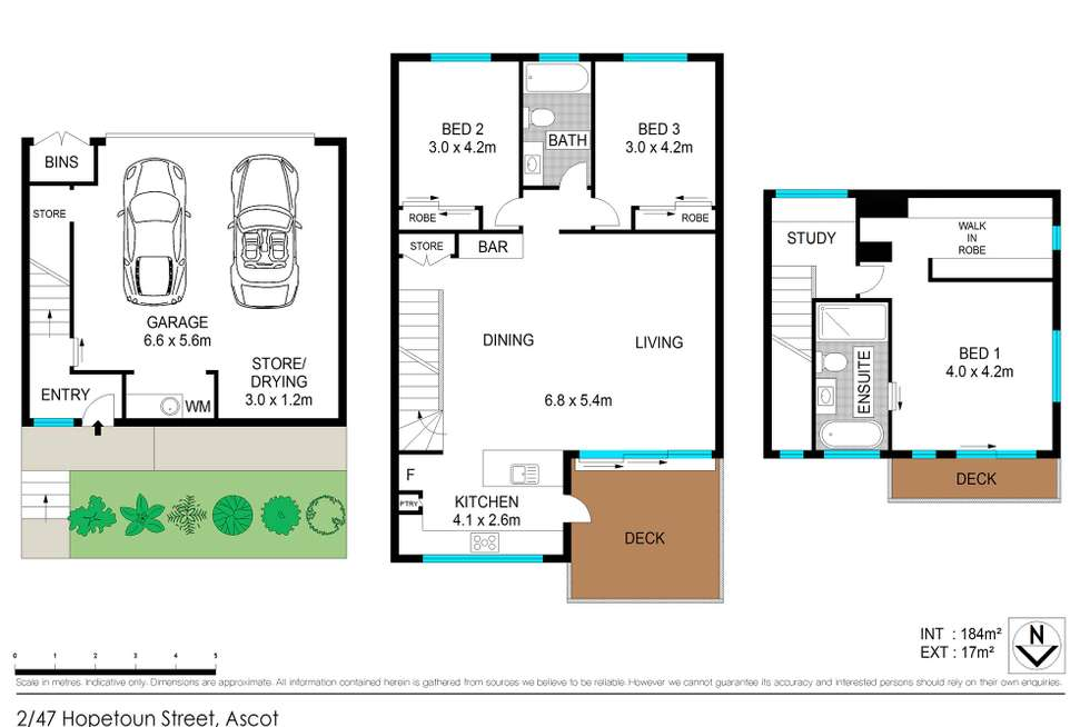 Floorplan of Homely townhouse listing, 2/47 Hopetoun Street, Ascot QLD 4007
