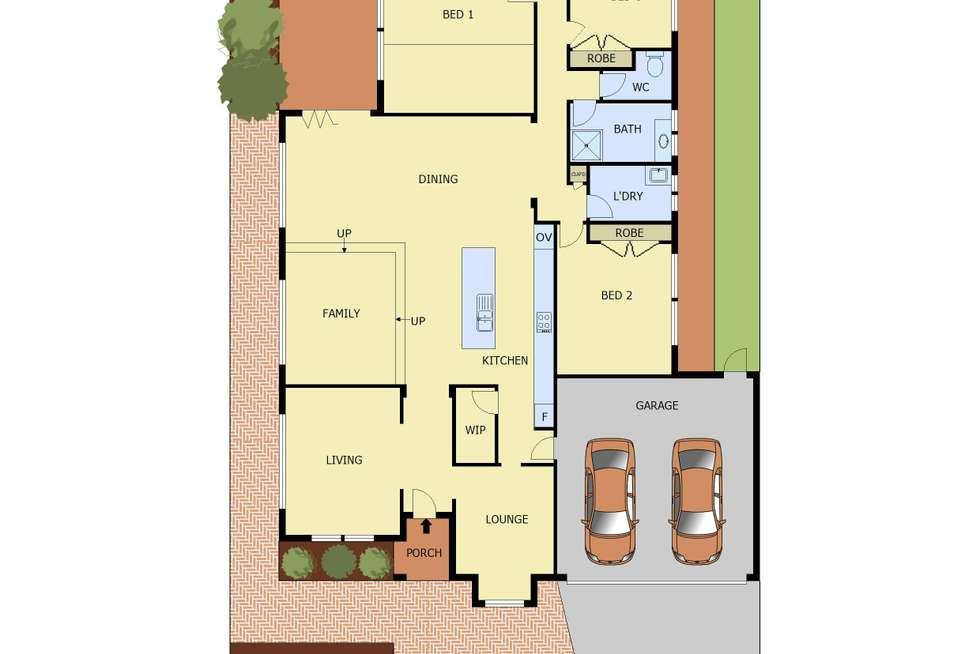 Floorplan of Homely house listing, 20 Brookwater Parade, Lyndhurst VIC 3975