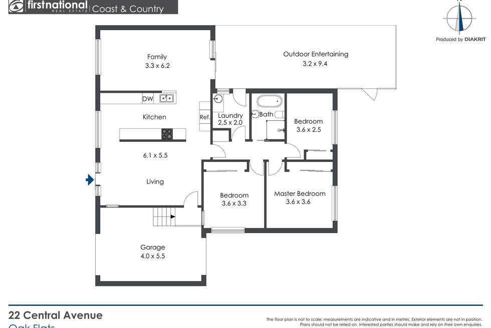 Floorplan of Homely house listing, 22 Central Avenue, Oak Flats NSW 2529