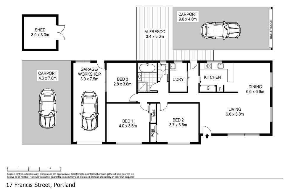Floorplan of Homely house listing, 17 Francis Street, Portland VIC 3305