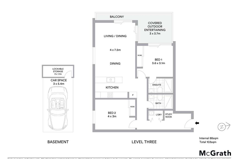 Floorplan of Homely unit listing, 306/128 Willarong Road, Caringbah NSW 2229