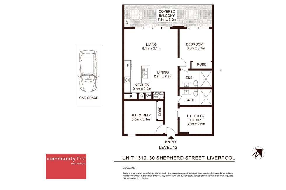 Floorplan of Homely unit listing, 1310/30 Shepherd Street, Liverpool NSW 2170