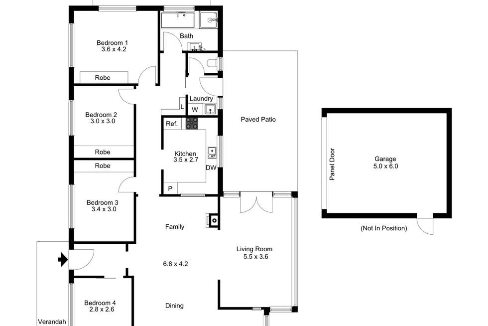 Floorplan of Homely house listing, 42 Anderson Road, Aldgate SA 5154
