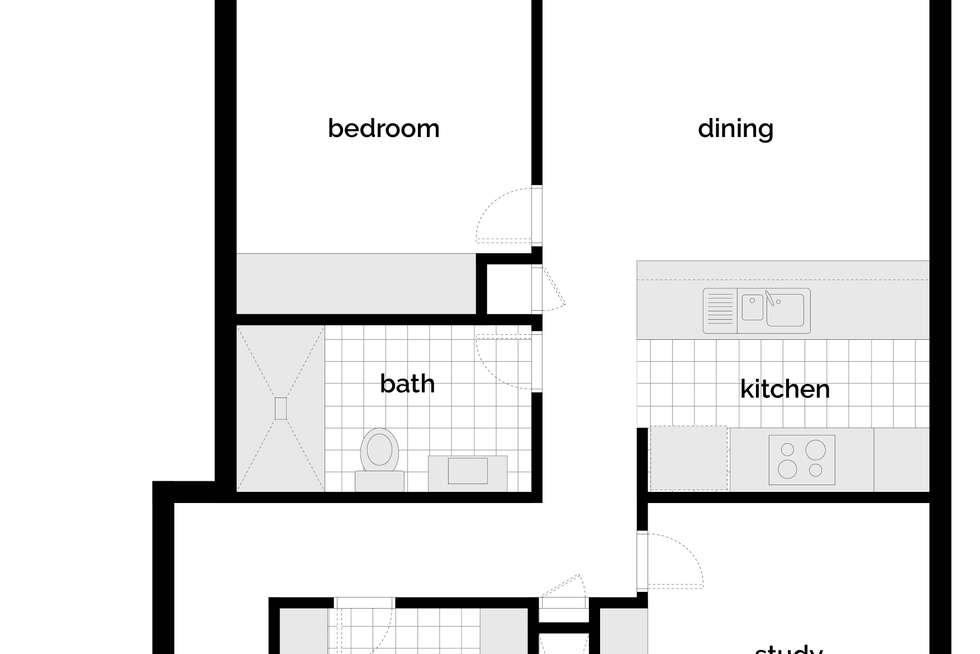 Floorplan of Homely apartment listing, 703/53 Mort Street, Braddon ACT 2612