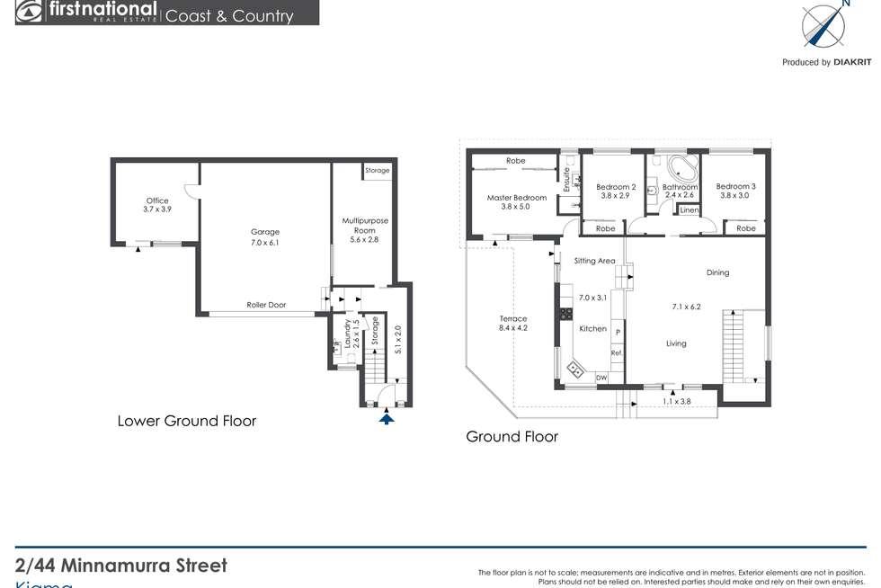 Floorplan of Homely townhouse listing, 2/44 Minnamurra Street, Kiama NSW 2533