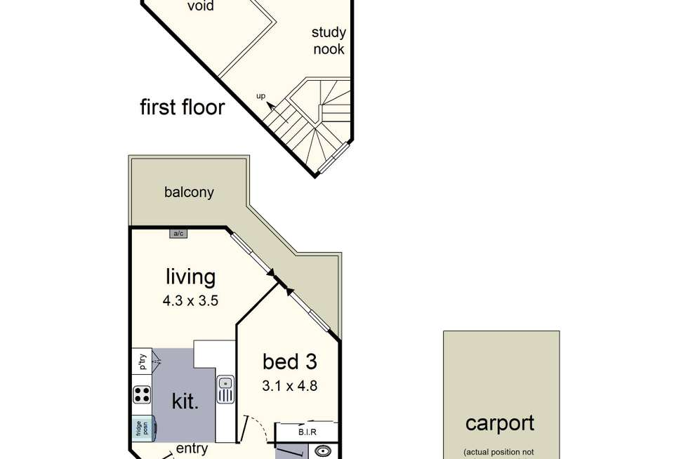 Floorplan of Homely unit listing, 38 White Close, Lilydale VIC 3140