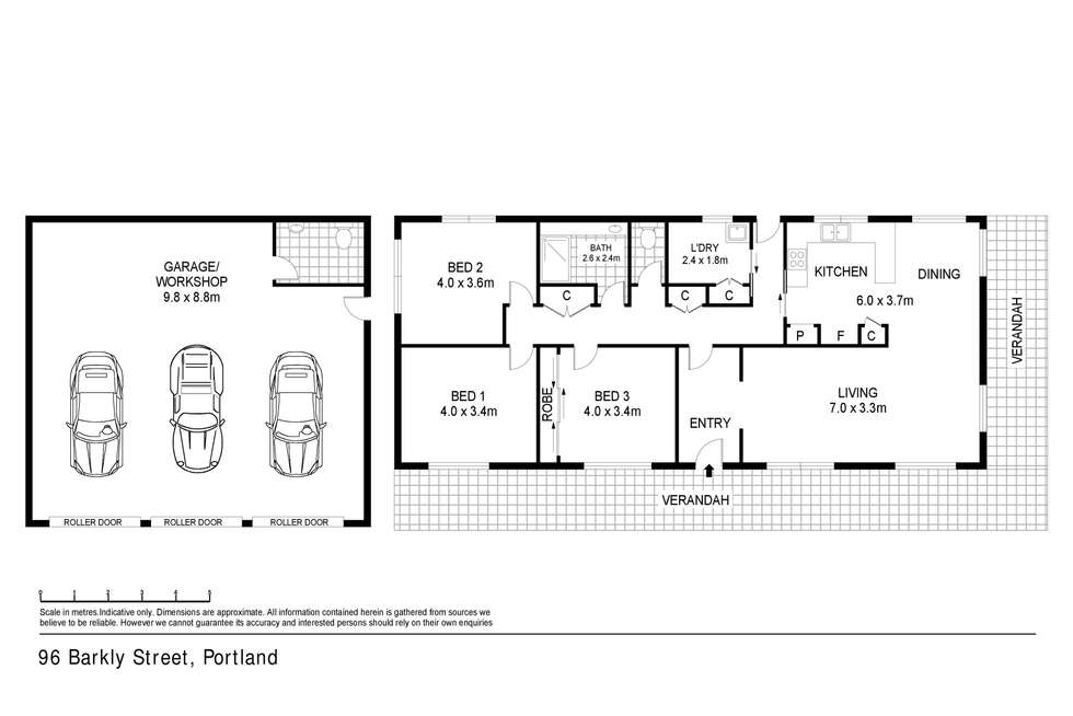 Floorplan of Homely house listing, 96 Barkly Street, Portland VIC 3305