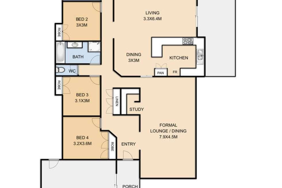 Floorplan of Homely house listing, 26 Belah Street, Rangeville QLD 4350