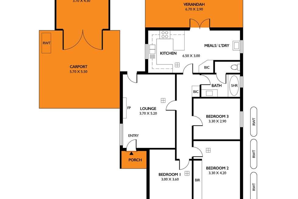 Floorplan of Homely house listing, 43 Galway Avenue, Marleston SA 5033