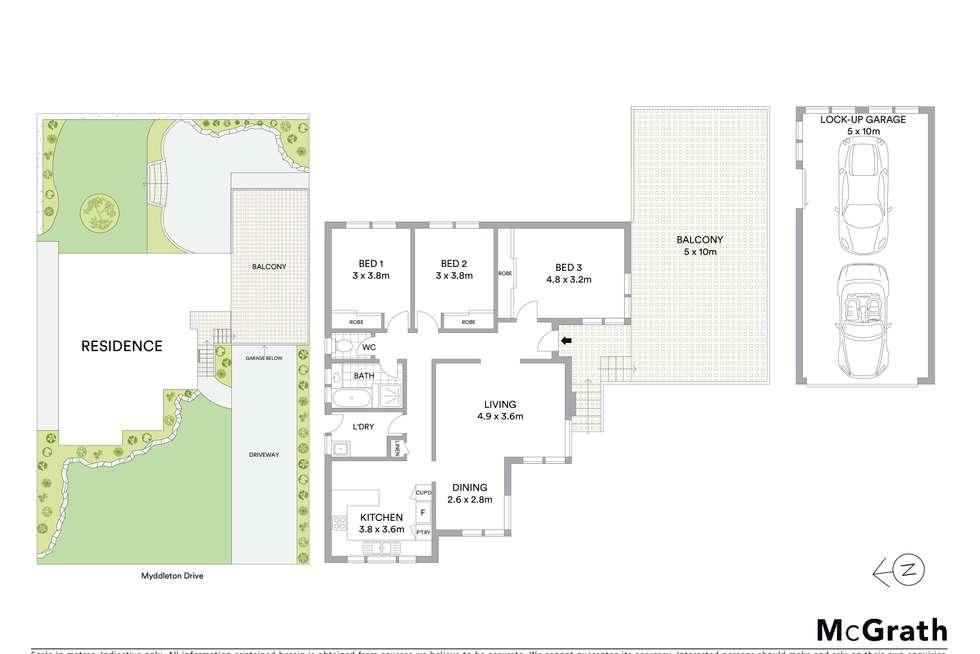 Floorplan of Homely house listing, 20 Myddleton Drive, Viewbank VIC 3084