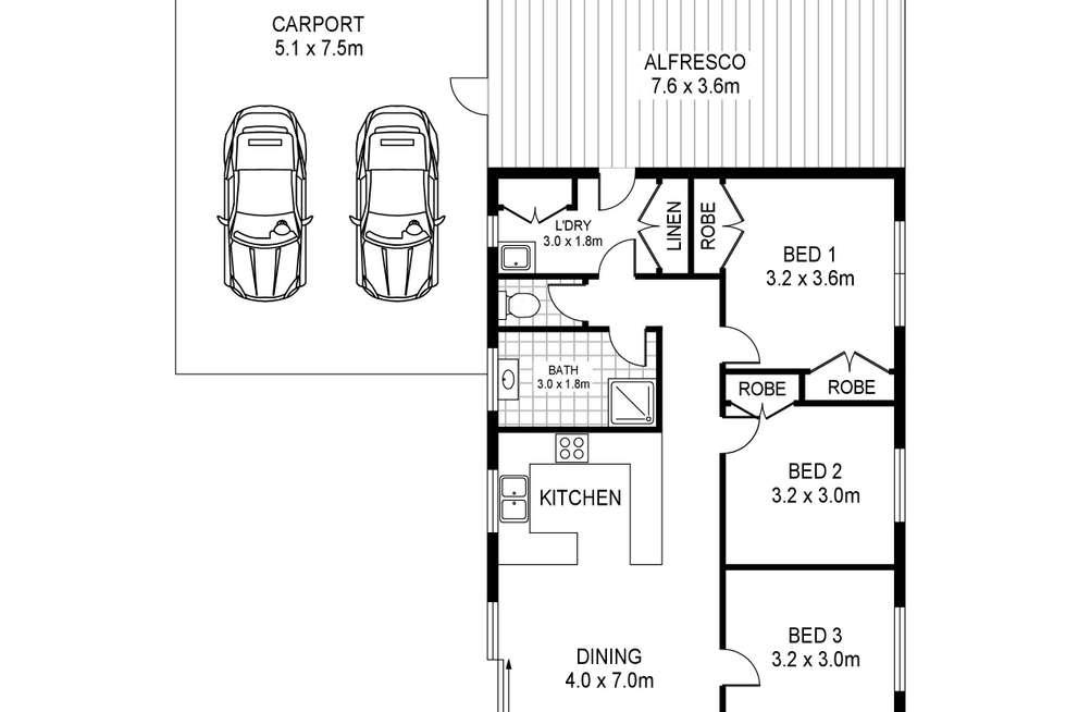 Floorplan of Homely house listing, 86 Otway Street, Portland VIC 3305