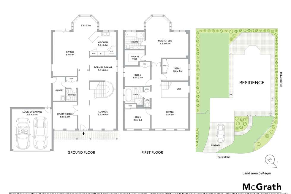 Floorplan of Homely house listing, 16 Thorn Street, Ryde NSW 2112