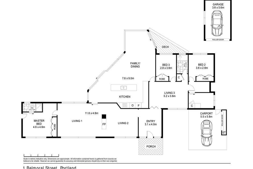 Floorplan of Homely house listing, 1 Balmoral Street, Portland VIC 3305