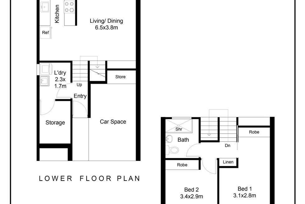 Floorplan of Homely townhouse listing, 2/71 Blamey Crescent, Campbell ACT 2612