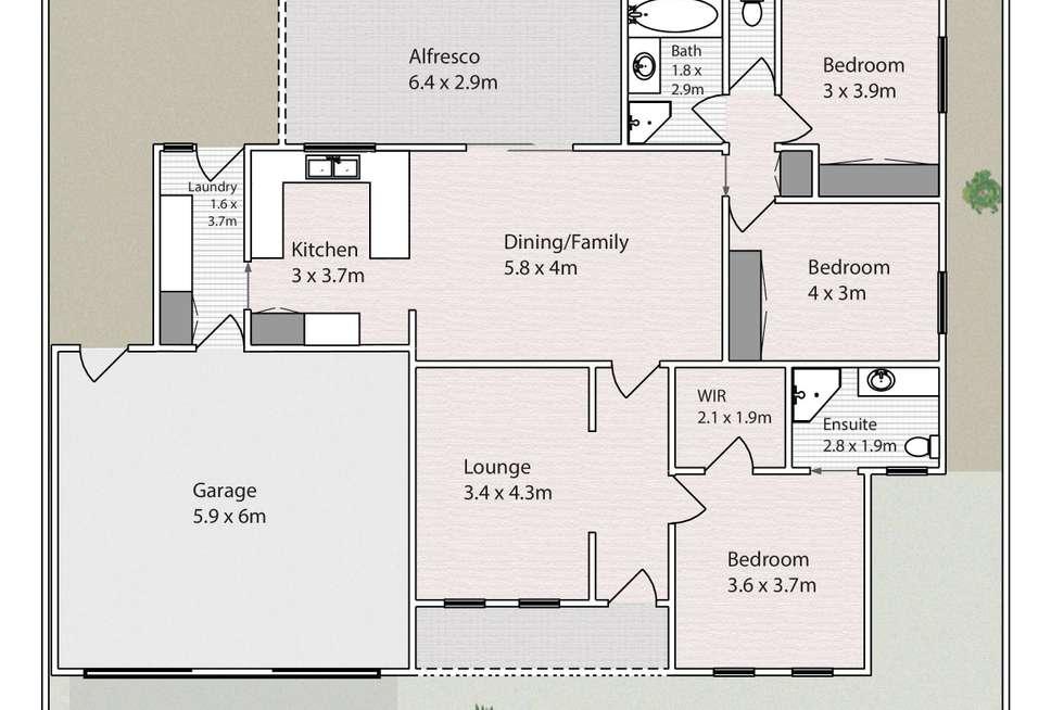 Floorplan of Homely townhouse listing, 33/313 Eighth Street, Mildura VIC 3500