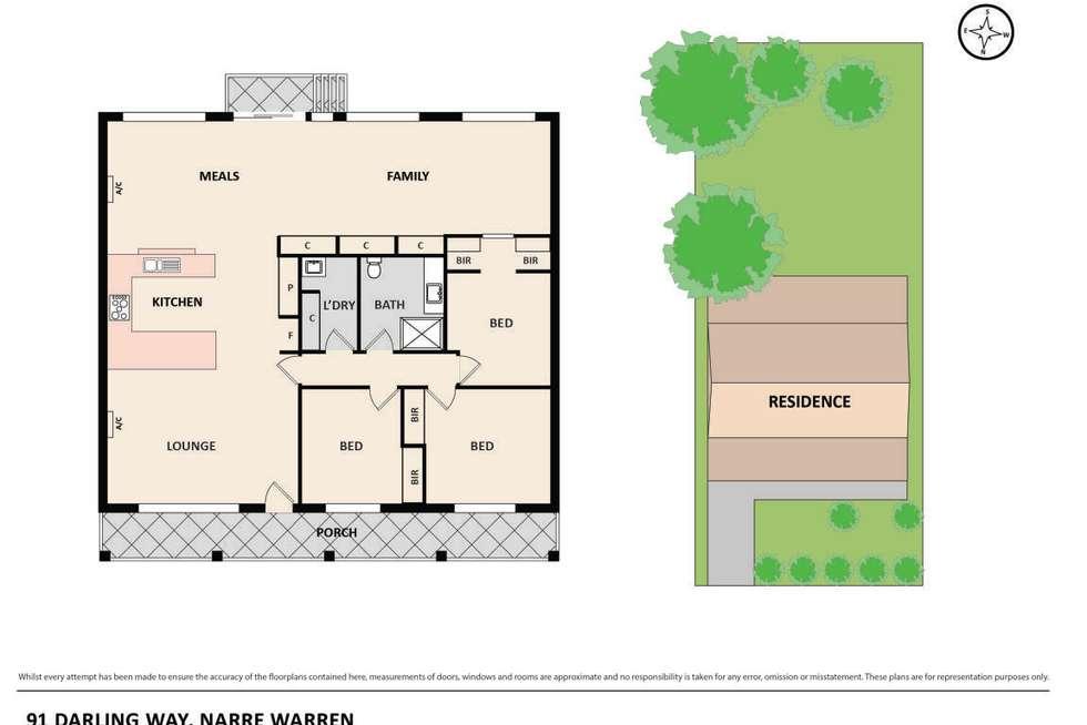 Floorplan of Homely house listing, 91 Darling Way, Narre Warren VIC 3805