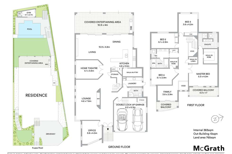 Floorplan of Homely house listing, 10 Kuppa Road, Ryde NSW 2112