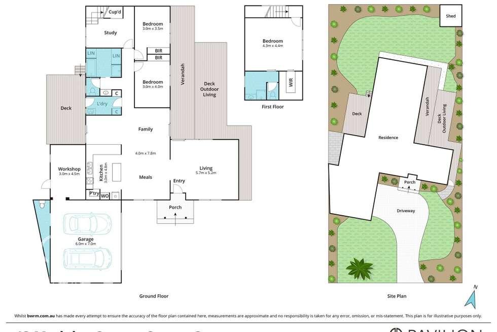 Floorplan of Homely house listing, 43 Madeley Street, Ocean Grove VIC 3226