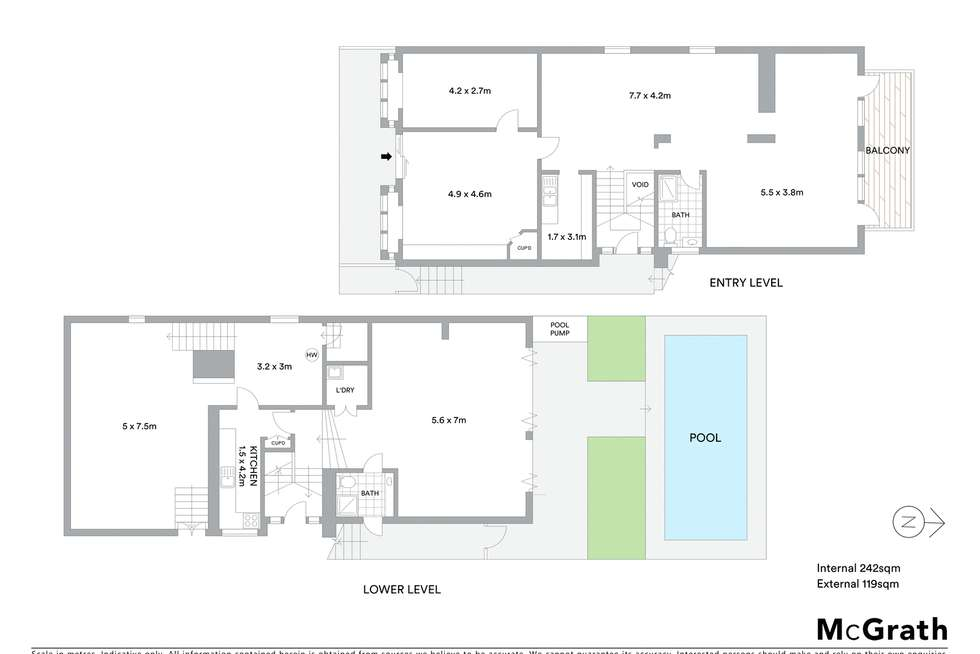 Floorplan of Homely house listing, 96 Woolwich Road, Hunters Hill NSW 2110