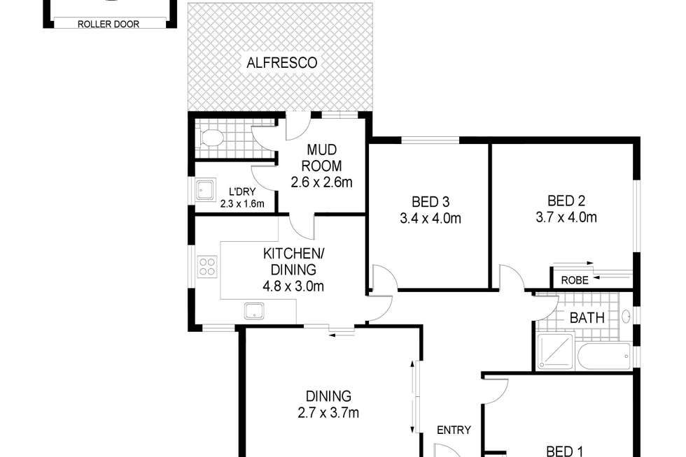 Floorplan of Homely house listing, 6 Sutton Avenue, Portland VIC 3305